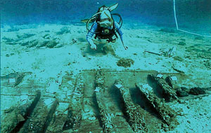 E. Trainito © UNESCO. Italy, wreck located in Porto San Paolo, III. Century A.D.