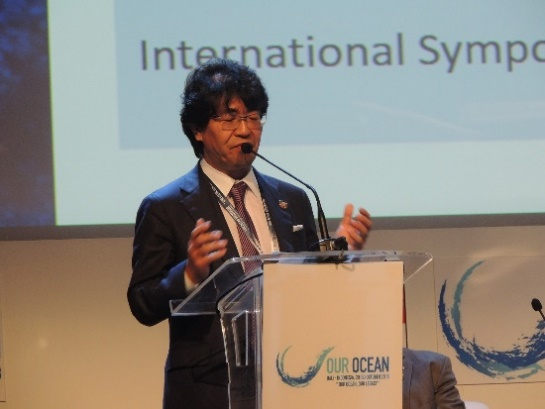 OPRI President Atsushi Sunami at Our Ocean Conference 2018 in Bali