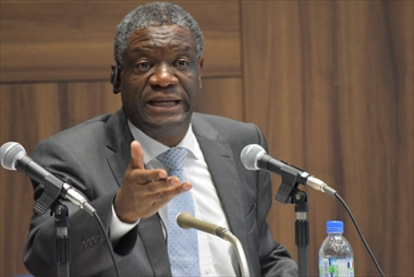 "On Oct. 3 <Lecture by Dr. Denis Mukwege> ""Sexual Violence and Protection of Women's Rights under Armed Conflict"""