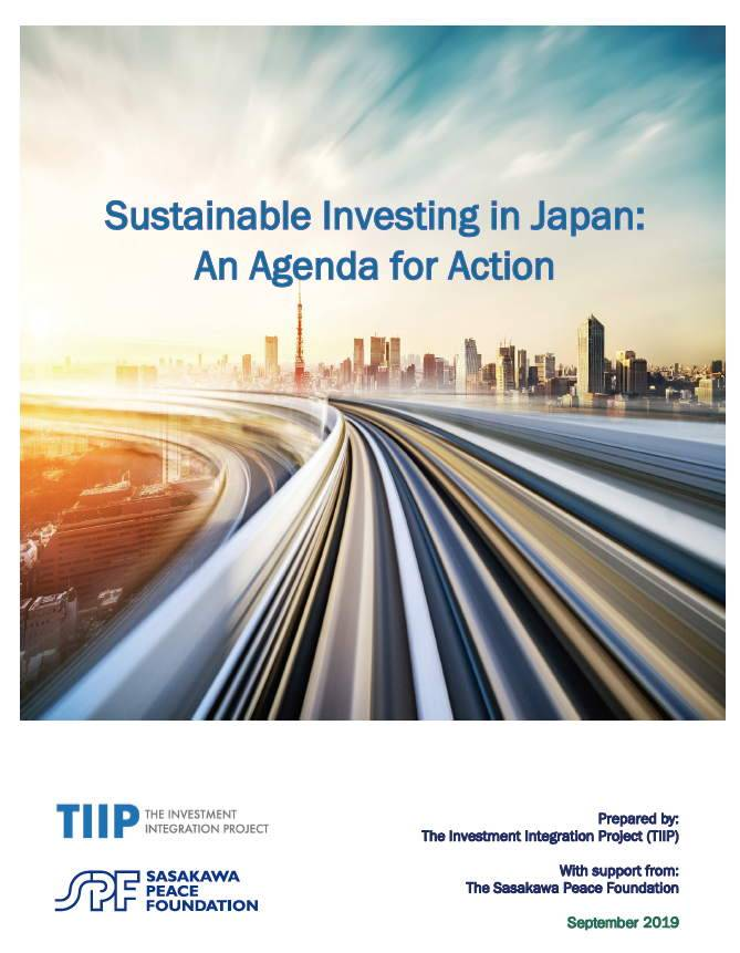 Sustainable Investing in Japan: An Agenda for Action