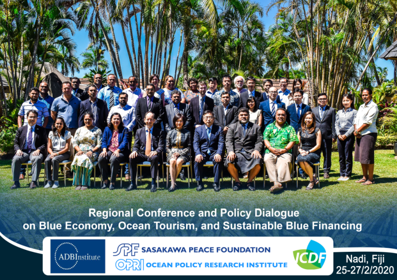 [Event Report] Regional Conference and Policy Dialogue on Blue Economy and Finance co-hosted by the ADBI and ICDF (Nadi, Fiji)