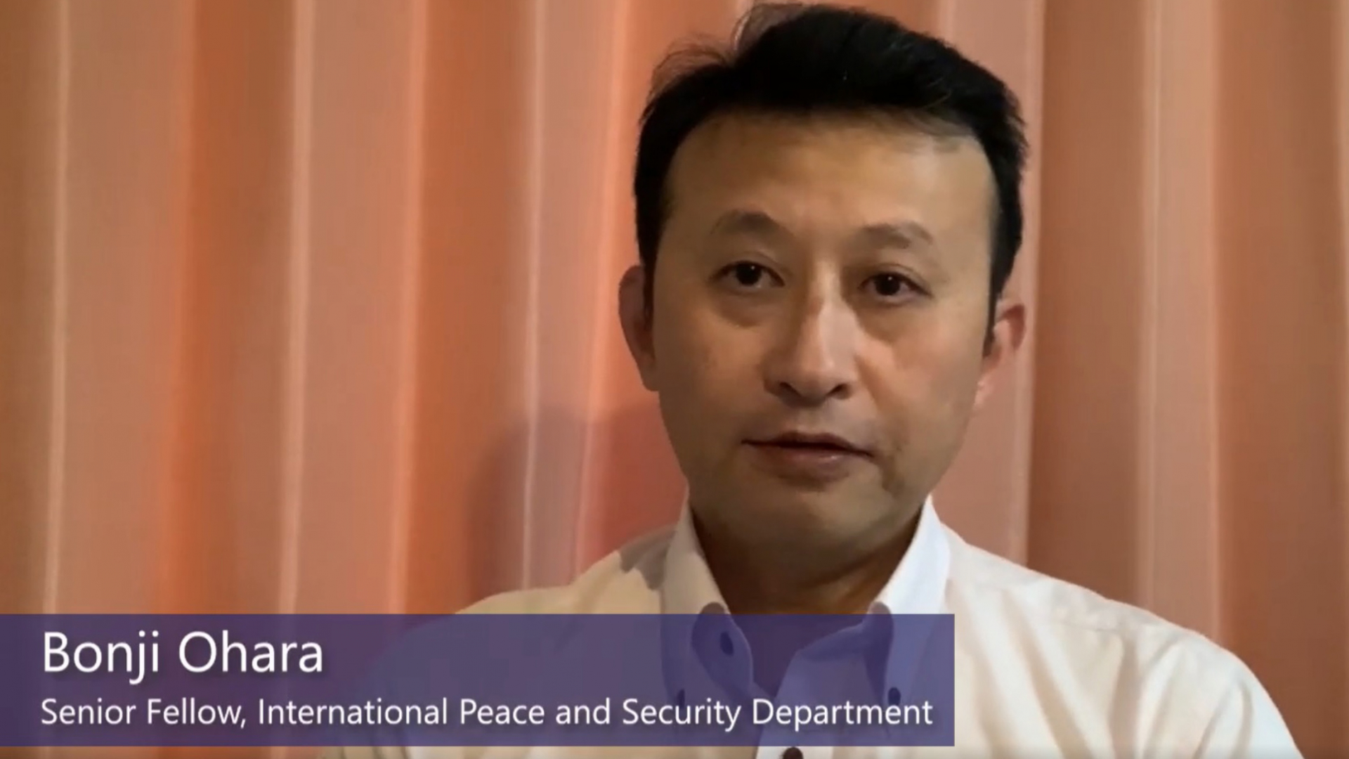 Changes to the global order during the COVID-19 pandemic: Interview with SPF Senior Fellow Bonji Ohara