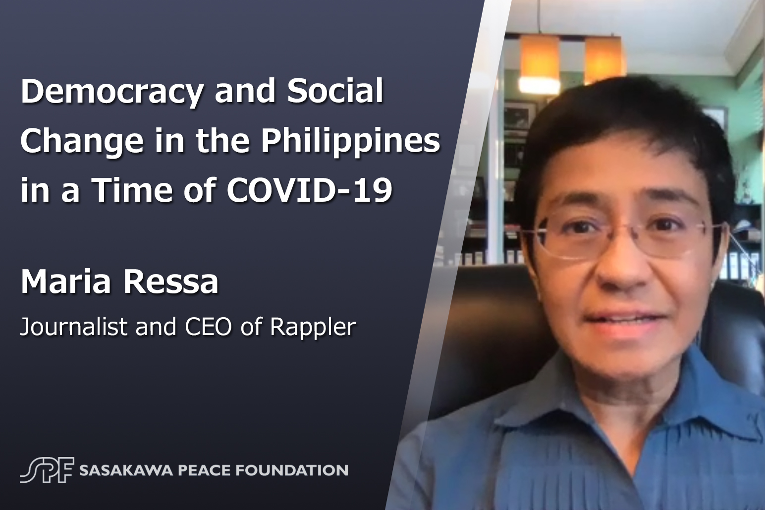 Democracy and social change in the Philippines in a time of COVID-19: Interview with Maria Ressa