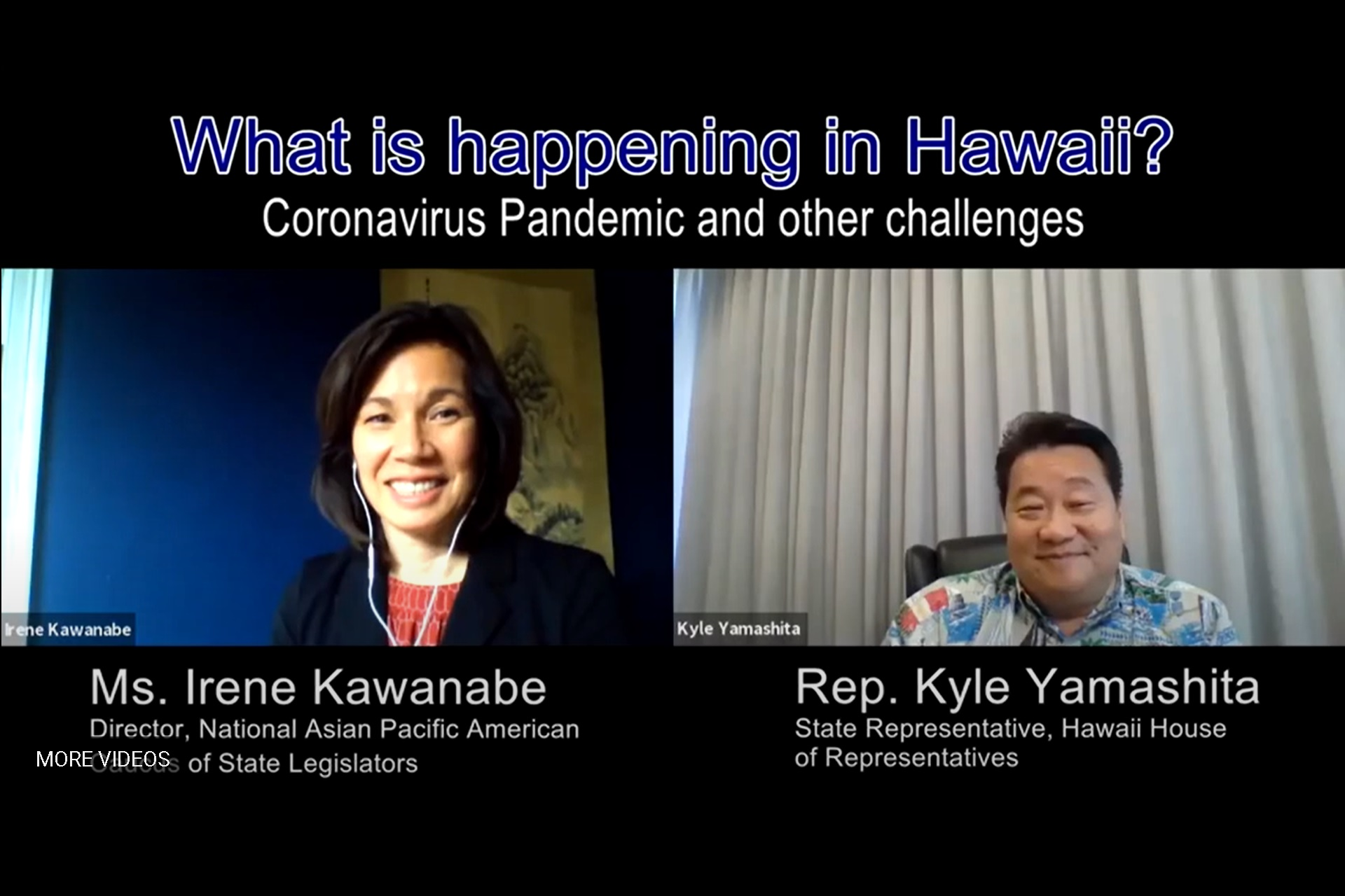 What is Happening in Hawaii? The Coronavirus Pandemic and Other Challenges<br>Interview Series with Asian American State Legislators No.1