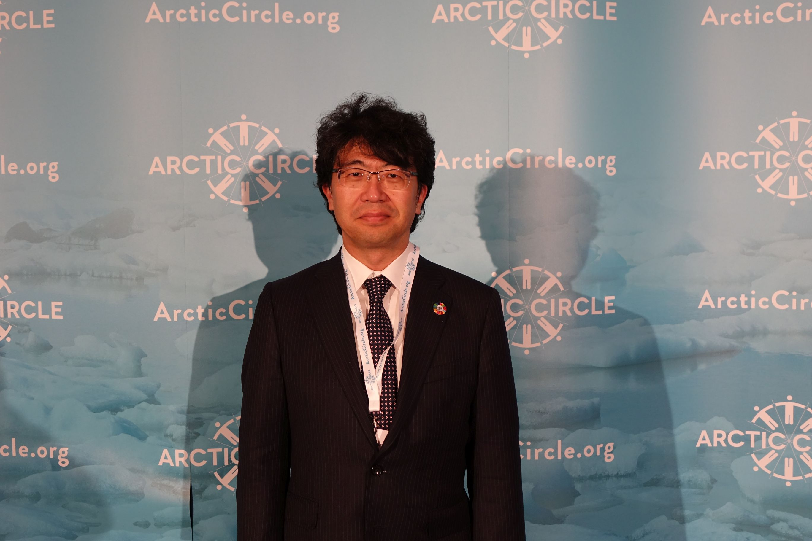 OPRI President Atsushi Sunami at the 2018 Arctic Circle Assembly, following his appointment to the Arctic Circle Advisory Board