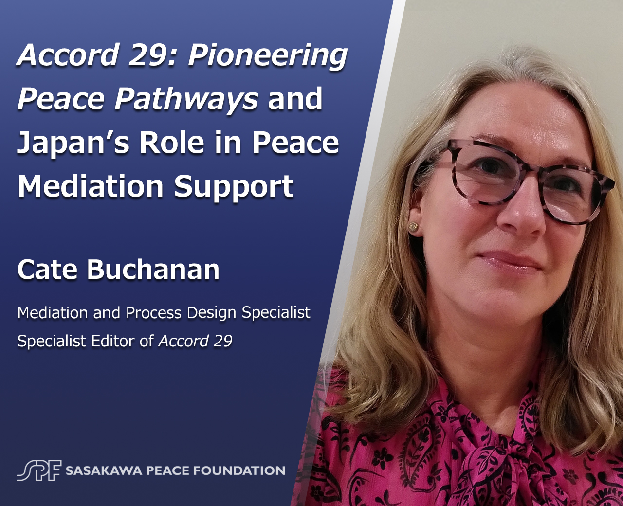 Accord 29: Pioneering Peace Pathways and Japan's Role in Peace Mediation Support