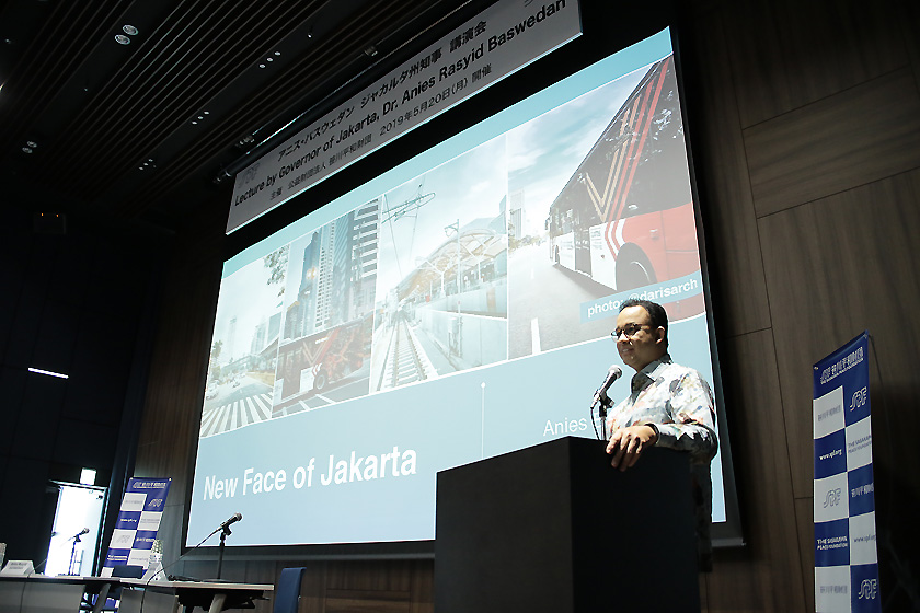 Governor of Jakarta Dr. Anies Baswedan during remarks at SPF