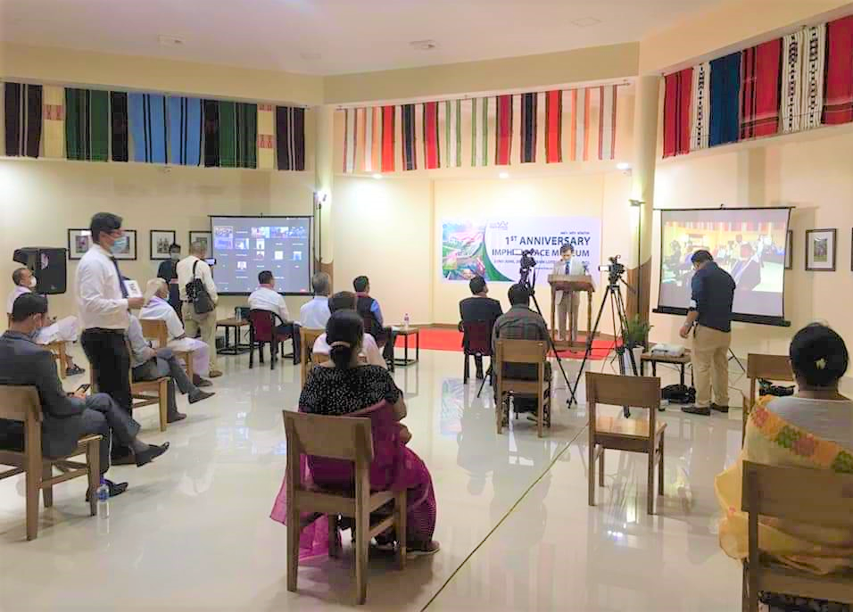 Ceremony commemorating the 1st anniversary of the Imphal Peace Museum