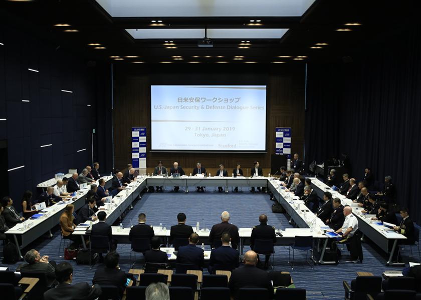 安全保障の専門家が笹川平和財団ビルに集まり、日米安全保障同盟について率直に議論した
