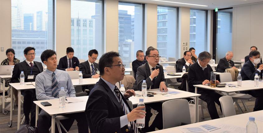会場からは中国、北朝鮮の決議履行状況などについて質問が出された