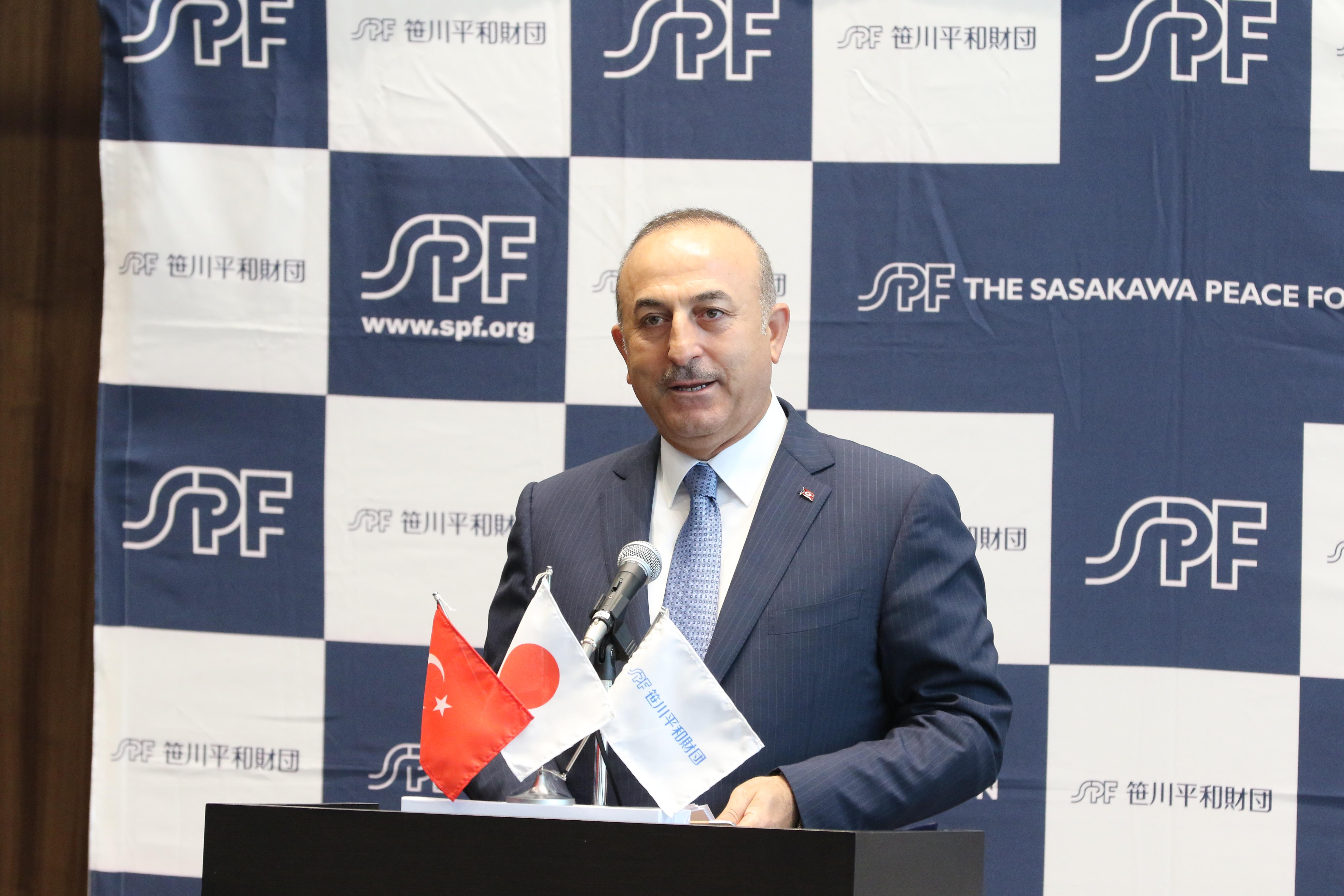 メヴリュット・チャヴショール・トルコ共和国外務大臣来日記念講演会「最新の中東情勢とトルコの役割」