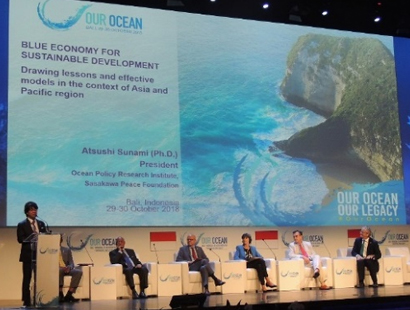 海洋政策研究所 角南篤所長が「アワーオーシャン会議(Our Ocean Conference)」で登壇