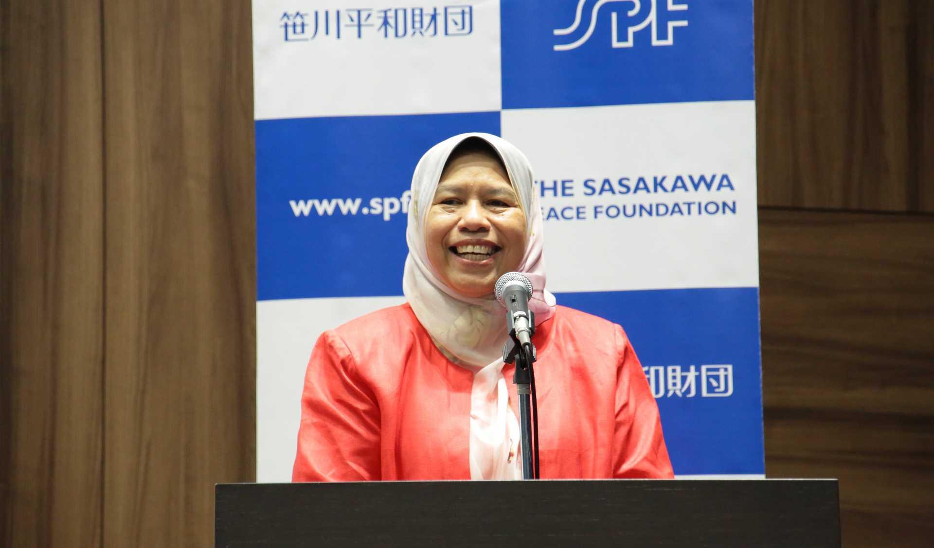 笹川平和財団主催「女性の政治参画への課題と展望」講演会<br>ズライダ・カマルディン(マレーシア住宅・地方政府大臣)基調講演
