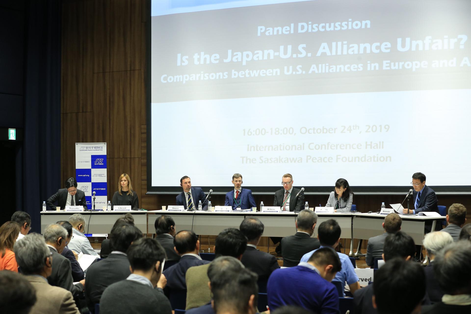 パネル講演会「日米同盟は不公平か?」ーアジアと欧州の同盟を比較するー