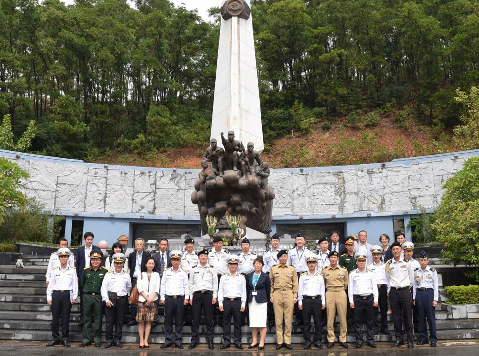 ベトナム陸・海・空軍基地など視察<br>防衛省・自衛隊代表団 第11回日越佐官級交流