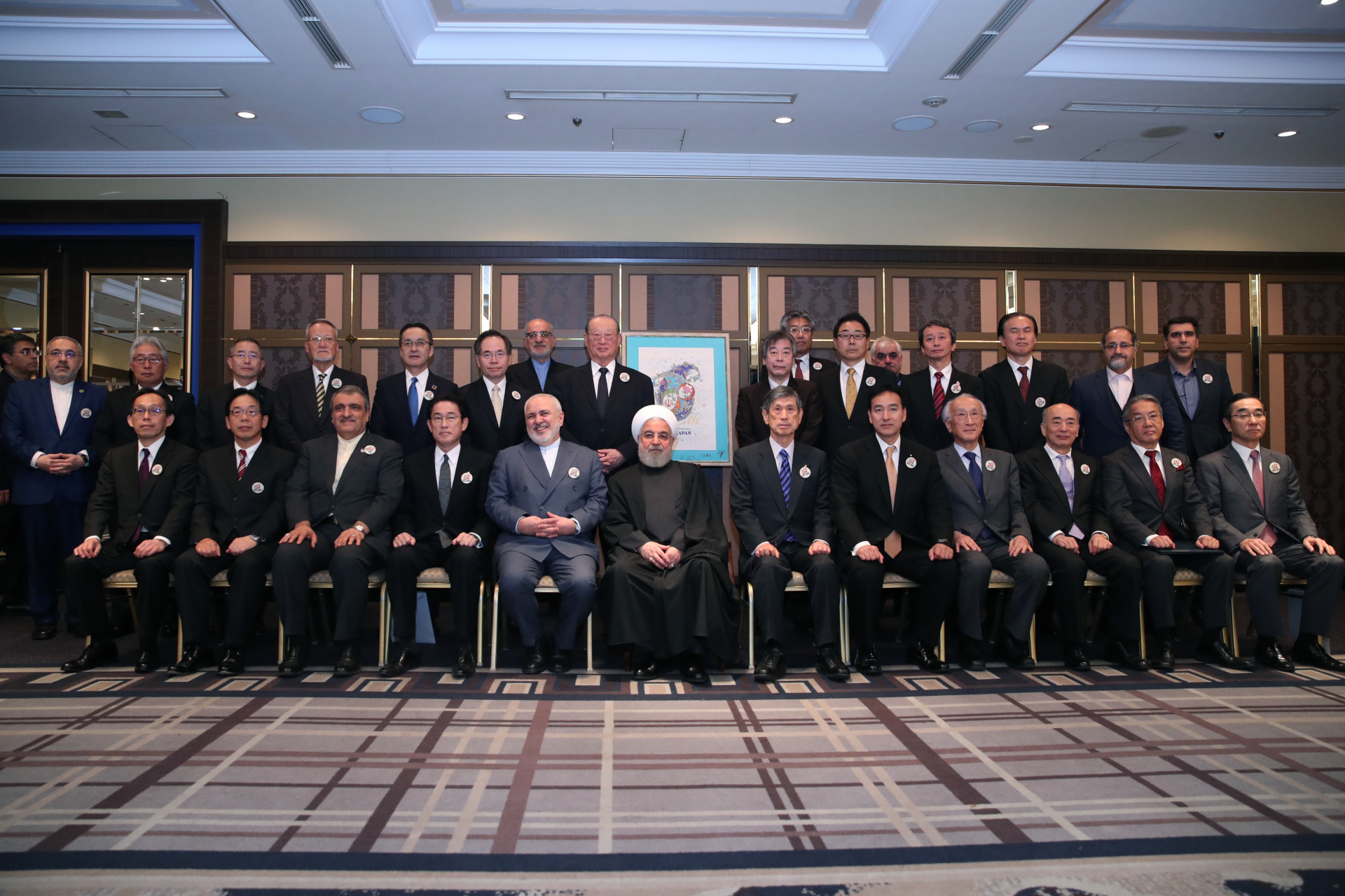 ローハニ・イラン大統領来日記念朝食会に田中会長が出席