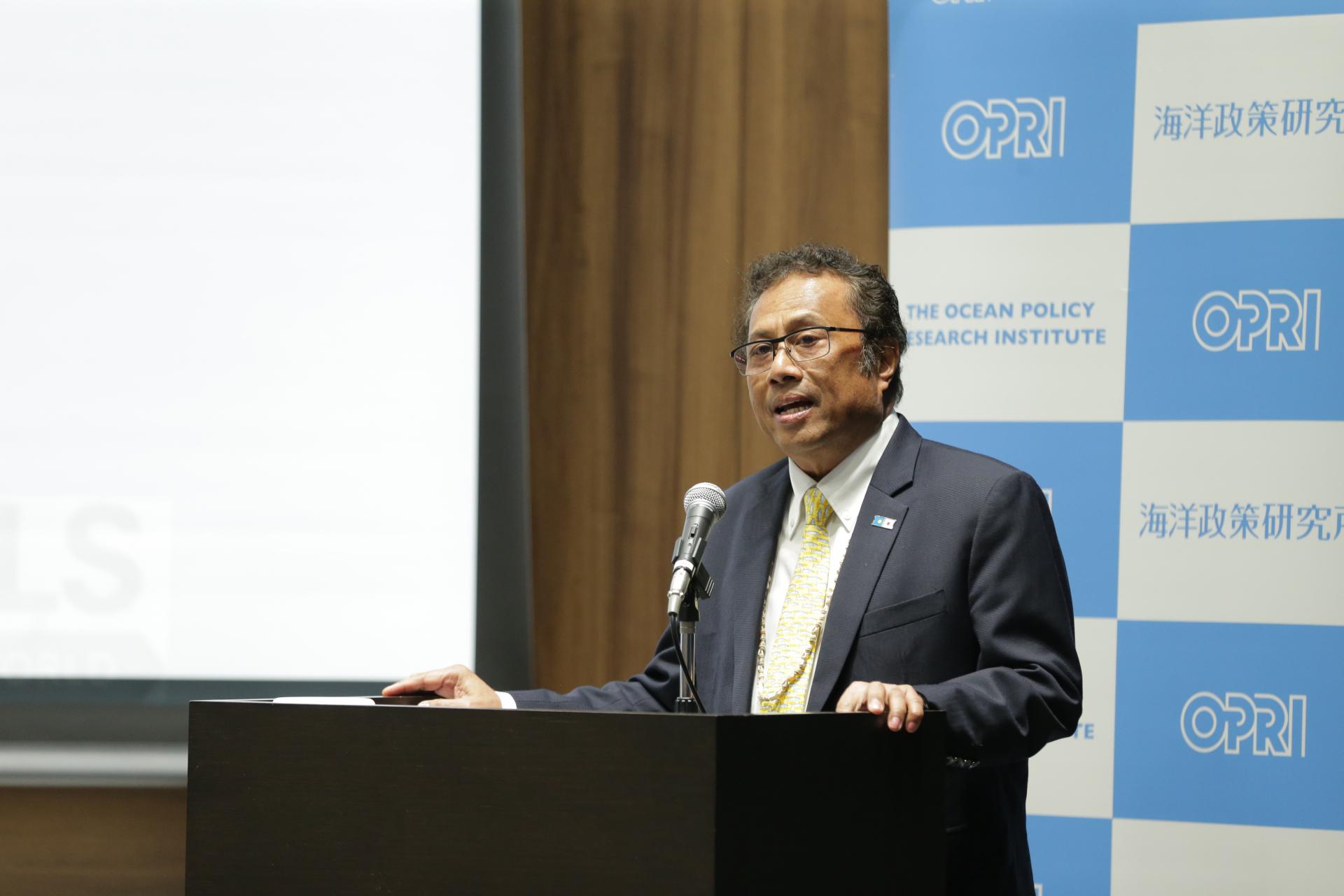 日・パラオ国交樹立25周年記念国際シンポジウム「持続可能な海洋の実現に向けて―パラオの取り組みと国際連携―」