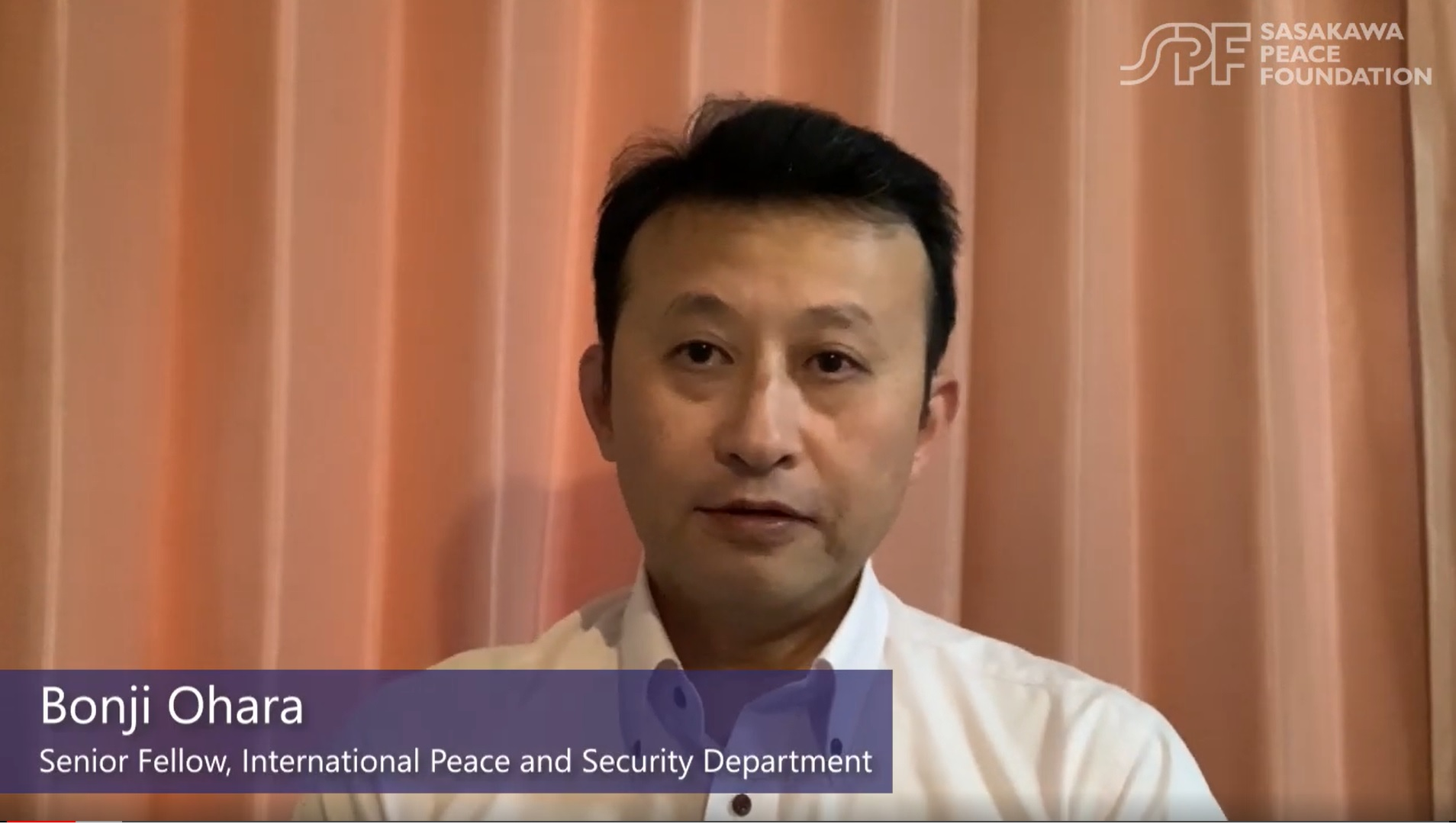 Changes to the global order during the COVID-19 pandemic Interview with SPF Senior Fellow Bonji Ohara
