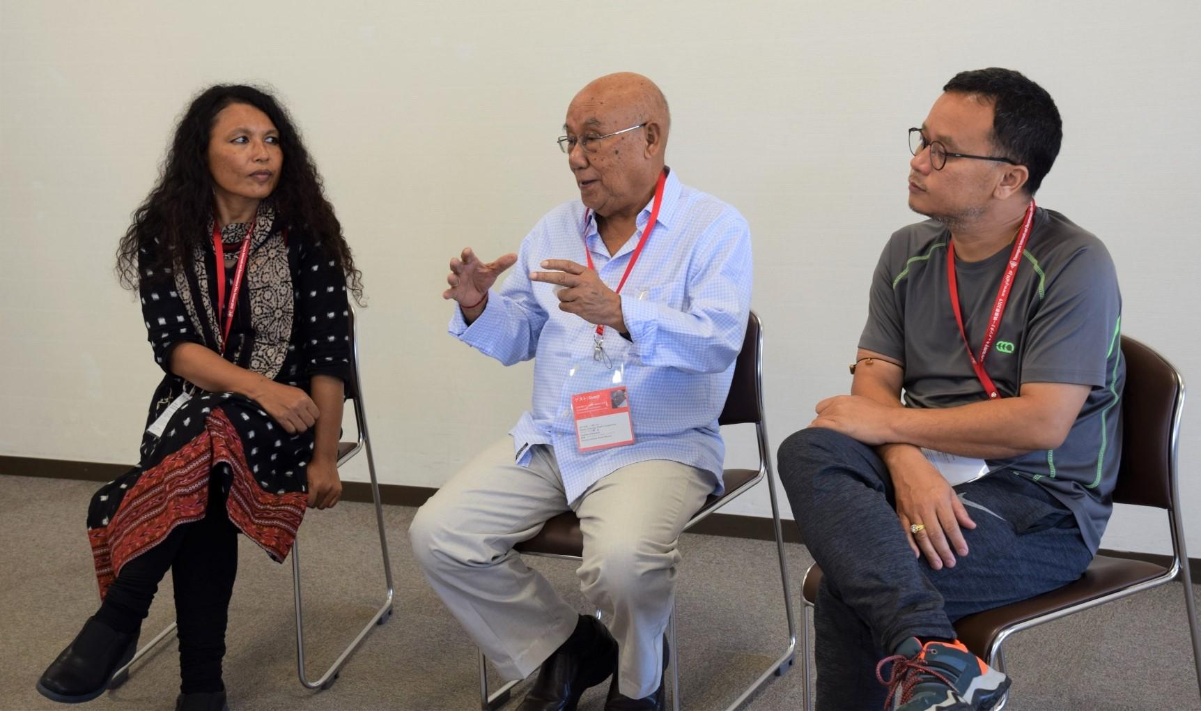 インド北東部出身のドキュメンタリー映像作家を迎えて<br>アリバム・シャム・シャルマ、ハオバム・パバン・クマール、ピンキー・ブラフマ・チョウドリーの3氏