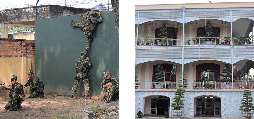 特殊偵察中隊による対テロ訓練
