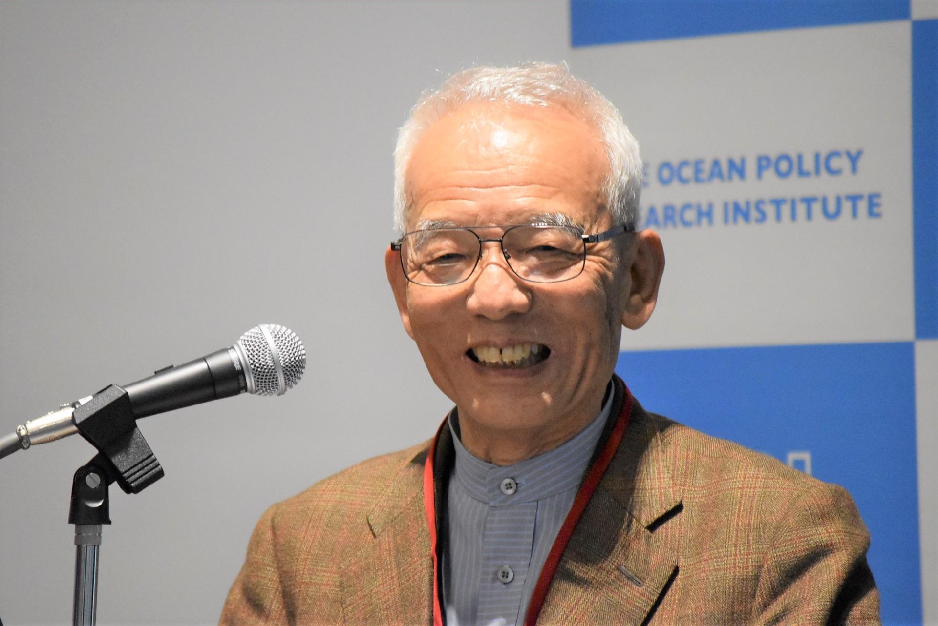 真鍋淑郎博士(2017年10月に開催した特別講演会「地球温暖化と海洋」にて)