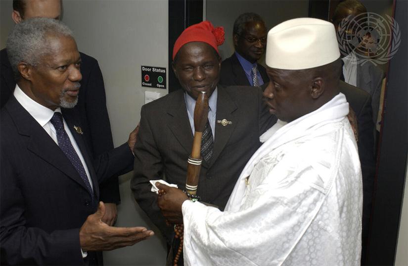 Caption: UN Photo/Eskinder Debebe U.N. Secretary-General Kofi Annan attends the OAU Summit in Durban where officials decided to reorganize into the AU. (July 8, 2002)