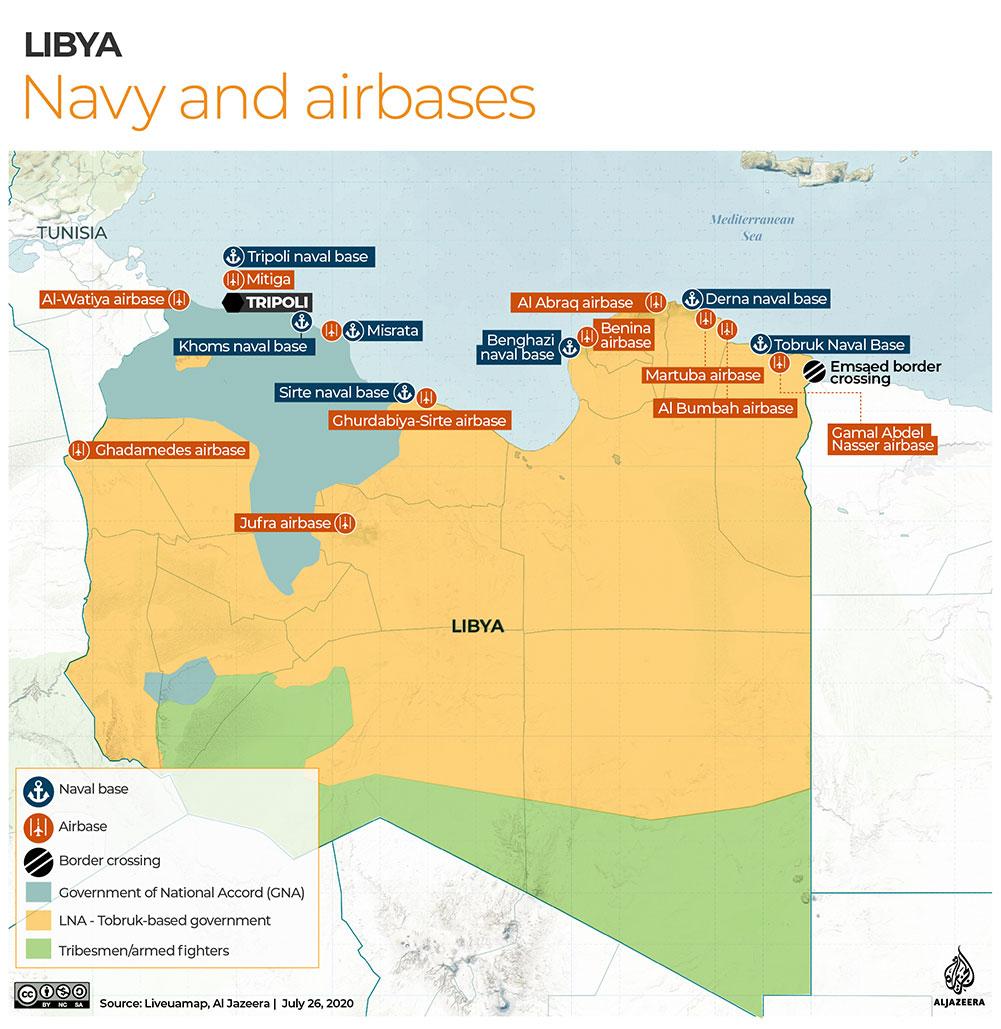 LIBYA Navy and airbases