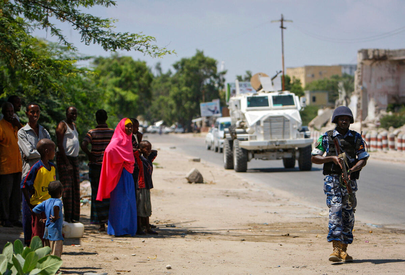UN Photo/Stuart Price 首都モガディシュをパトロールするAMISOM要員(2012)