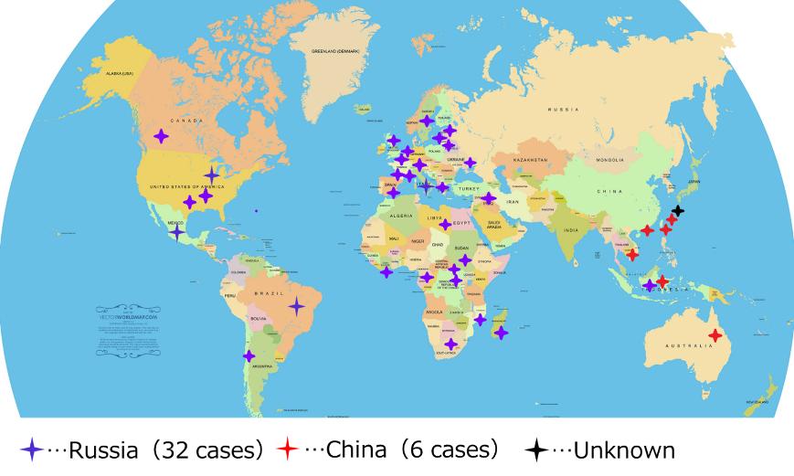 図1:Disinformation Cases (since 2016)(各種資料より筆者作成)