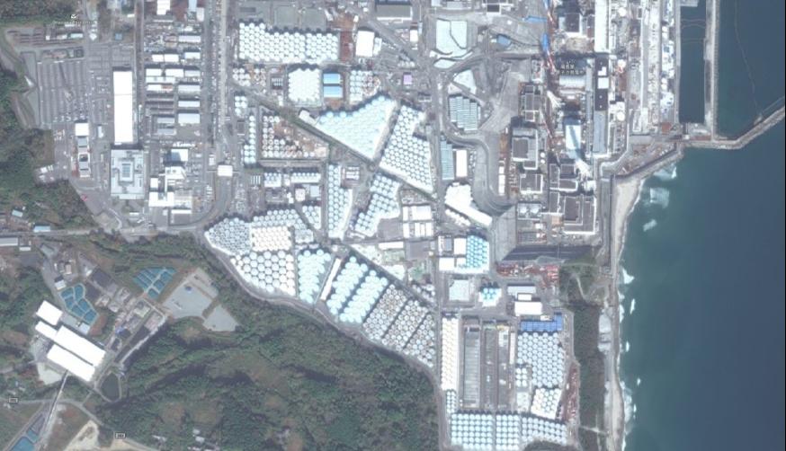 写真 1:処理水を保管するタンクがたまり続ける福島第一原発