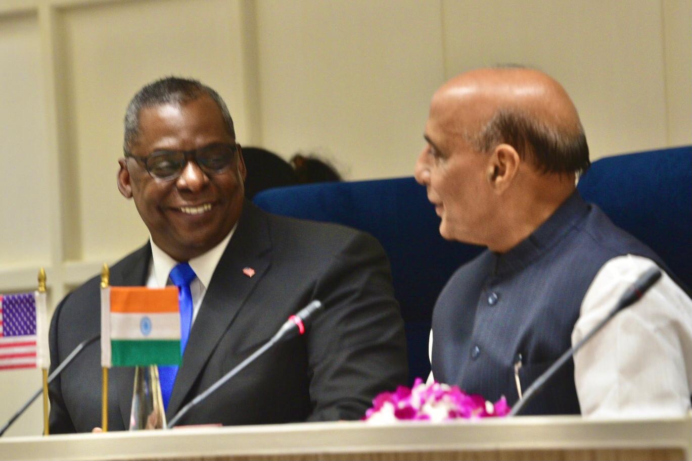 2021年3月のオースティン国防長官・シン防衛大臣会談においても、インド太平洋におけるインド軍と米中央軍・アフリカ軍との連携が確認されている。U.S. Indo-Pacific Command HP Photo By: Lisa Ferdinando, DOD