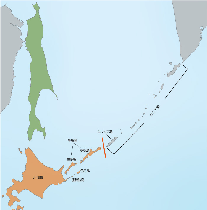 国後島と択捉島が千島国を構成(北海道の国郡制施行)   情報 ...