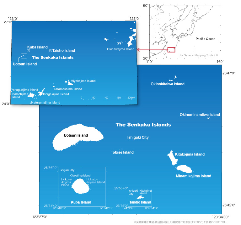 The Senkaku Islands: Location, Area, and Other Geographical Data ...