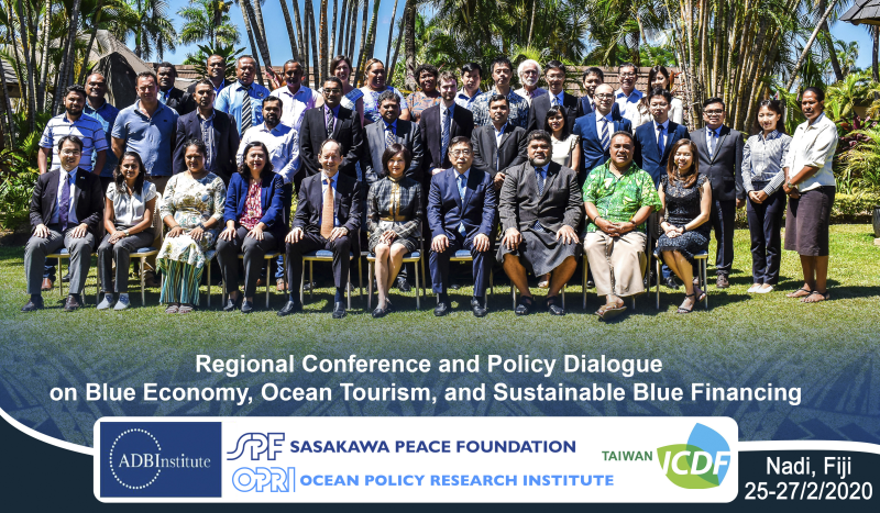 Regional Conference and Policy Dialogue on Blue Economy and Finance co-hosted by the ADBI and TaiwanICDF (Nadi, Fiji)
